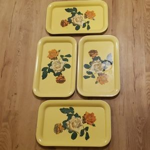 Vintage serving tray set